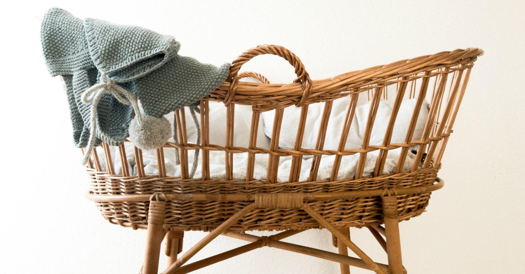 image of beautiful baby crib