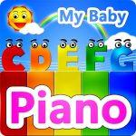 Multicolored piano and alphabet
