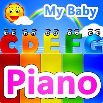 my baby piano app logo